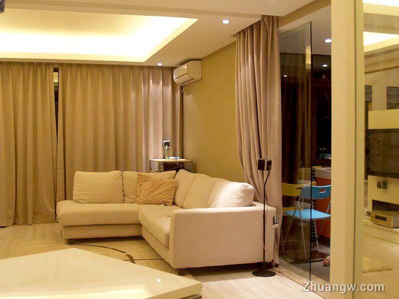 90平米装修 客厅效果图 二居 简约 装修图库