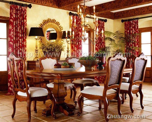 美克美家家具-传统风格餐厅系列-美克美家家具-传统