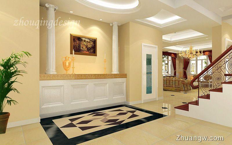 简欧风格别墅效果图 卧室效果图 别墅 欧式 15 20万 装修