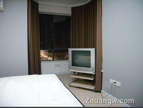 室内装修-极简灰蓝红酷白-卧室装修效果图_卧室装饰图