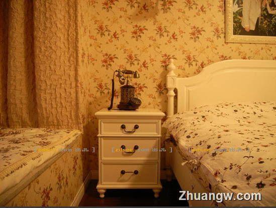 两室两厅装修 简欧式的田园印象 卧室设计效果图大全 卧室