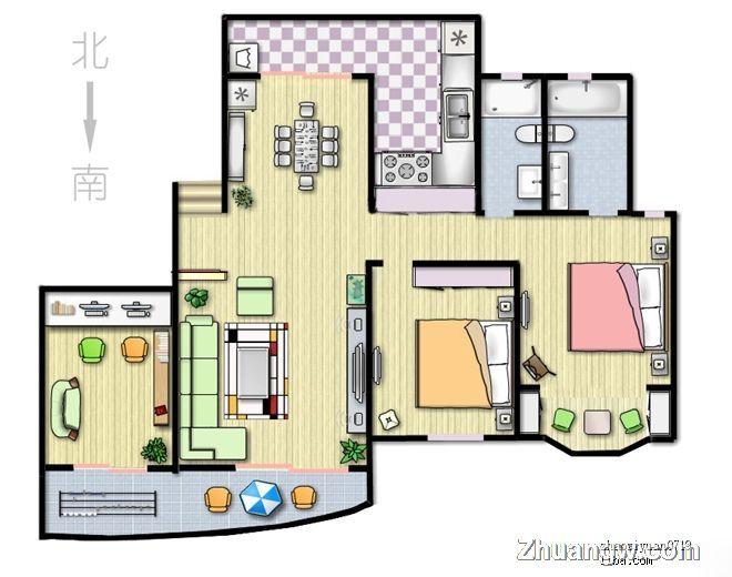 三室两厅两卫 时尚经典的简约风装修案例 其它装修设计图片