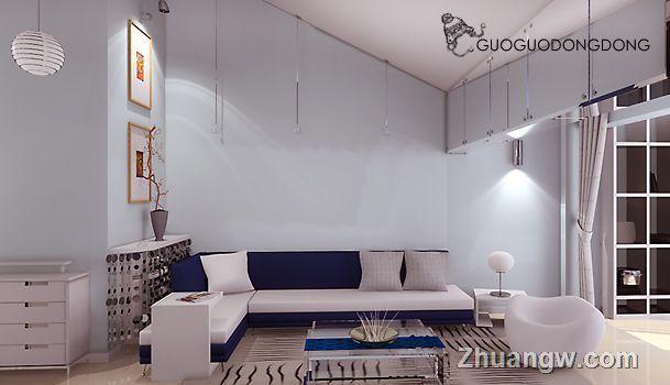 简洁素色客厅效果图装修效果图 简洁素色客厅效果图装修案例 简洁素