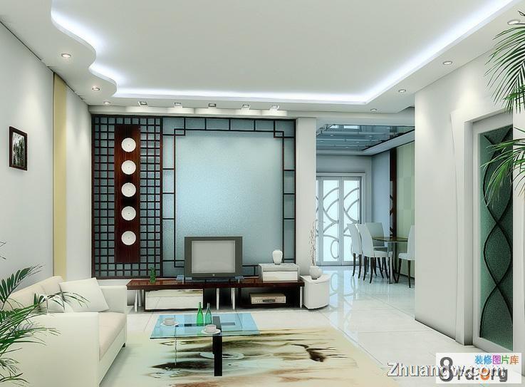 简洁素色客厅效果图装修效果图 简洁素色客厅效果图装修案例 客厅装