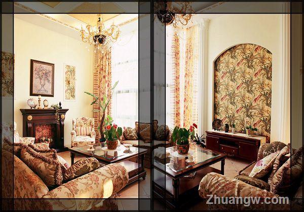 中欧合并别墅装修效果图图片