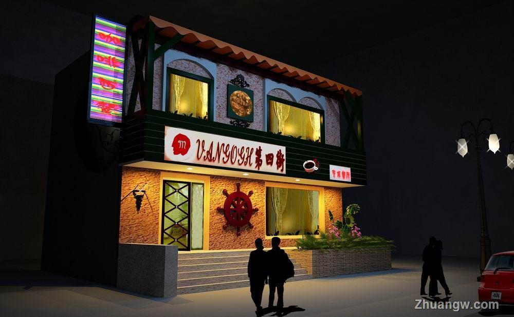 河南咖啡厅 郑州咖啡店 玄关效果图 玄关室内装修效果图