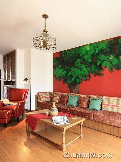 两室两厅装修 绿野仙踪装修案例 客厅装修设计图片 客厅装潢