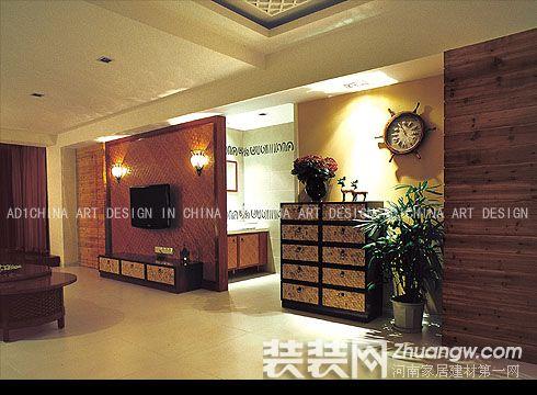 东南亚风格装修效果图 三室两厅装修东南亚风格装修图片 三室