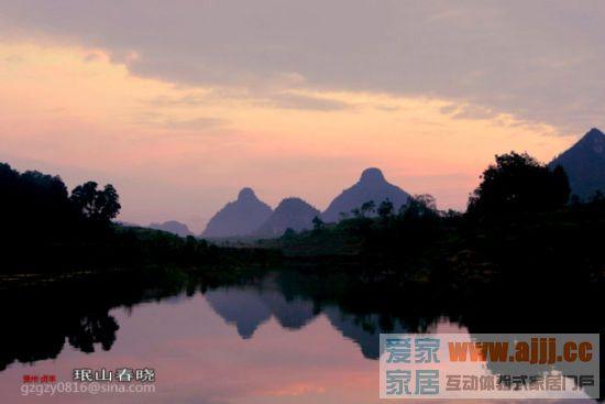 新浪旅游配图:霞光下的双乳峰 摄影:珉山春晓