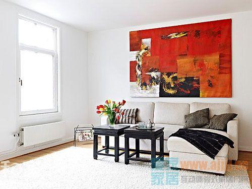 玩转背景墙的家 63平白色舒适小户型